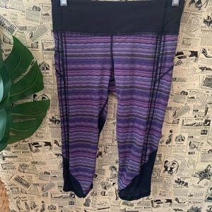 Lululemon vent it out crop space dye twist violet